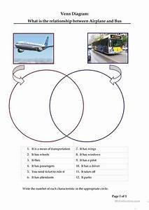 Compare An Airplane With A Bus  Venn Diagram