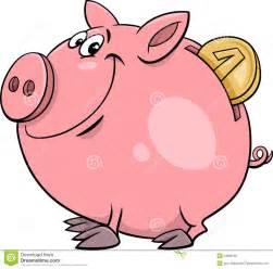 design sparschwein sparschwein mit münzenkarikatur vektor abbildung bild 53969180