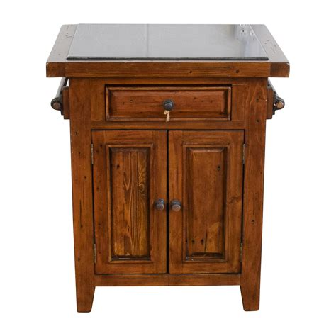 wood kitchen island  black marble top tables
