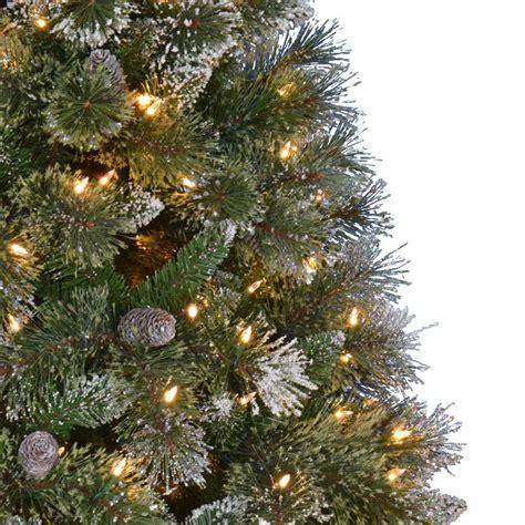 martha stewart led christmas lights warm white crystal c3 martha stewart living 7 5 ft pre lit led sparkling pine set artificial tree
