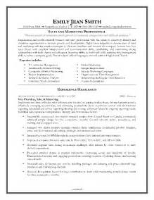 sle resume for sales and marketing professional doc 8861 sle resumes sales and marketing 42 related docs www clever