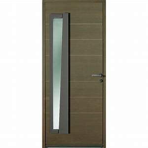 porte d39entree semi vitree en bois garantie 10 ans With porte de garage enroulable avec porte intérieure semi vitrée