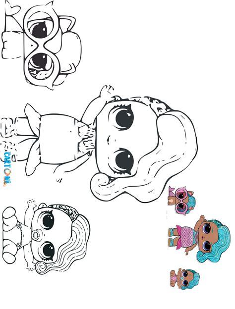cartoni animati colora lol surprise  glitterati lol