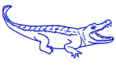 coloring pages alligator drawing cartoon alligator