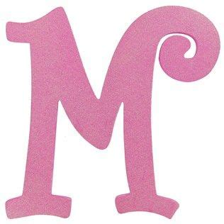 hot pink glitter letter  shop hobby lobby letra