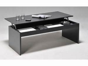Table Basse Avec Plateau Relevable : table basse salon bois table basse vitrine maison boncolac ~ Teatrodelosmanantiales.com Idées de Décoration