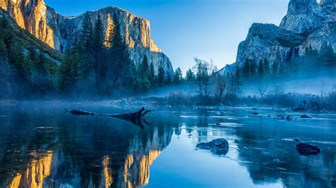Yosemite, El Capitan, 5k Wallpapers, Winter, Forest, Osx