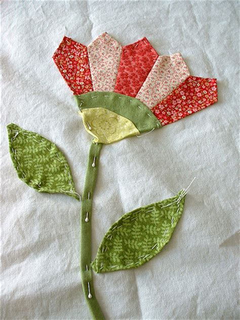 Flower Applique  Work In Progress  Geneviève Beaulieu Flickr