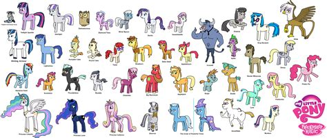 Mlp Characters My Little Pony Friendship Is Magic All Characters By