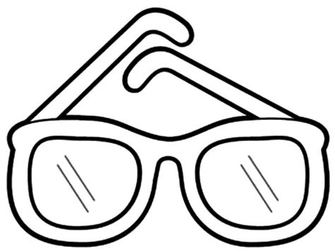 Drawn Spectacles Coloring Page