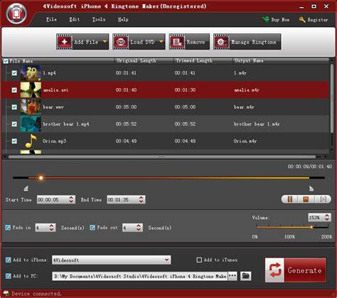 ringtone maker for iphone 4videosoft iphone 4 ringtone maker trial for free