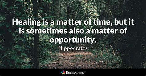 healing   matter  time