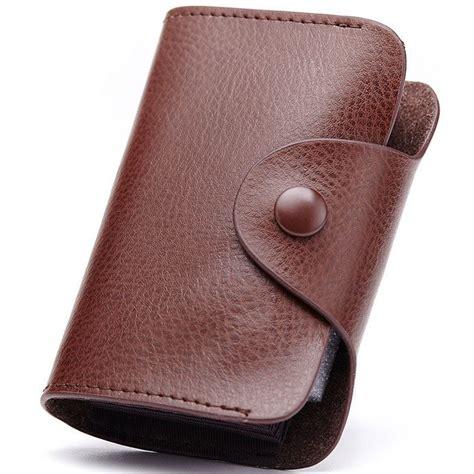 dompet kartu elegan bahan kulit cl 3324 brown