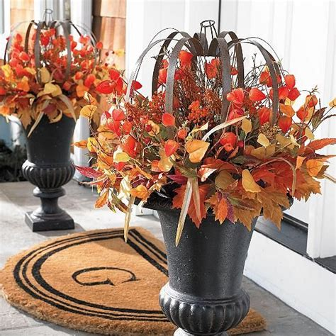 simple outdoor thanksgiving decorations shelterness