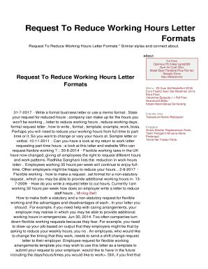 request  reduce working hours letter fill
