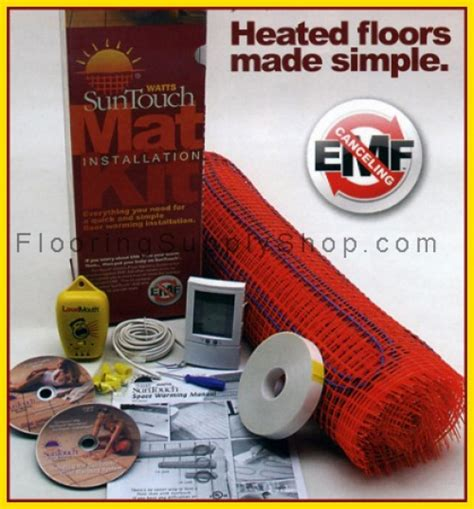 suntouch floor warming kit suntouch electric radiant floor heat mats kit 10sq in los