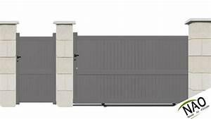 Orange Portail Pro : cheap portail avec portillon alu with portail 3m pas cher ~ Nature-et-papiers.com Idées de Décoration