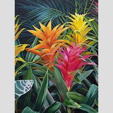Bold Botanical Acrylic Painting Painting Of Tropical
