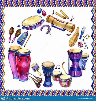 Instruments Percussion Drums Etnici Strumenti Het Disegnati