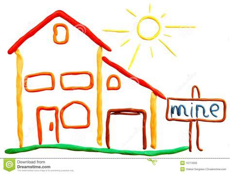 maison et soleil de p 226 te 224 modeler image libre de droits image 10713306