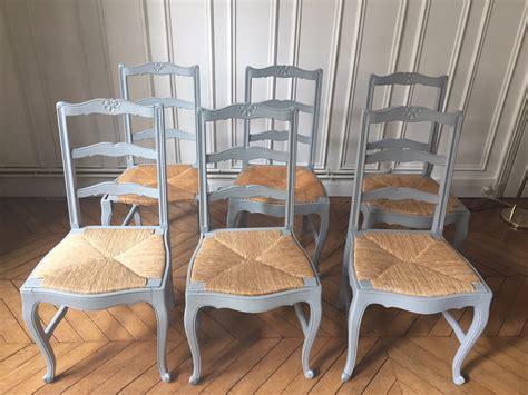 renover chaise bois six chaises anciennes rénovation à la demande la