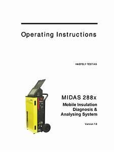 Instructions Manual Midas 288x