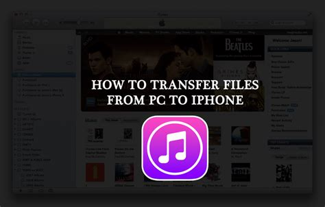 how to transfer files from pc to iphone using itunes shout92
