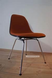 Herman Miller Stuhl : 1von35 herman miller vitra side chair stuhl fiberglas hopsak orange schwarz ~ One.caynefoto.club Haus und Dekorationen