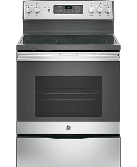 ge  stainless freestanding electric range jbskss