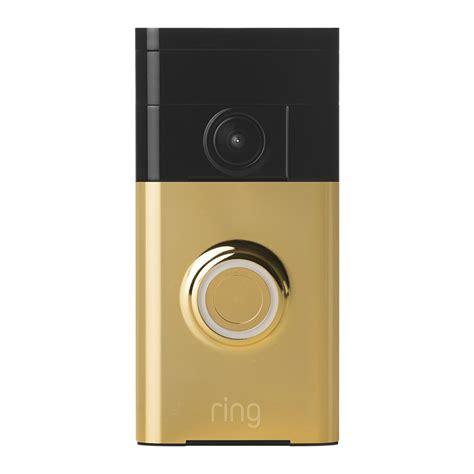 ring door bell ring 720p ir doorbell gold the home security