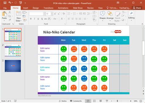 powerpoint calendar template free mood calendar powerpoint template
