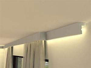Gardinenschiene Mit Blende : vorhangschiene mit blende lko3 mit led ~ Watch28wear.com Haus und Dekorationen