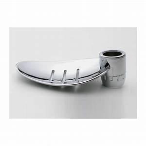 Support Savon Douche : porte savon feuille chrom e pour barre de douche diam tre ~ Premium-room.com Idées de Décoration
