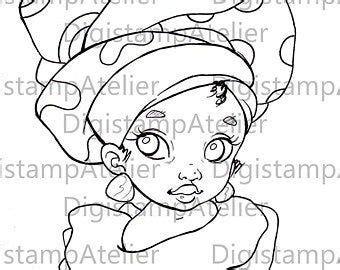 nubian queen digistamp digital coloring drawing etsy   nubian queen digital stamps