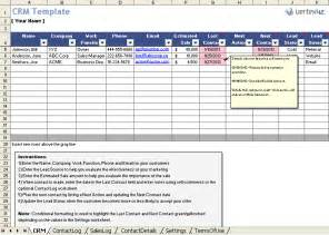 Free Excel Template Free Excel Crm Template For Small Business
