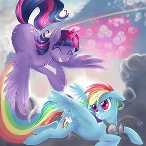 alicorn twilight and rainbow dash | My Little Pony ...