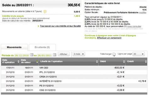 plafond compte courant credit agricole l e relev 233 d op 233 rations du livret monabanq les livrets d 233 pargne au banc d essai