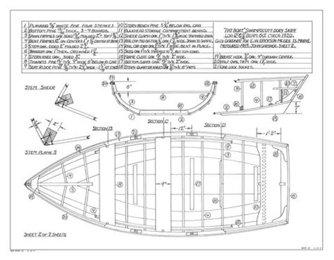 boat dory skiff by gardner mystic seaport ships plans