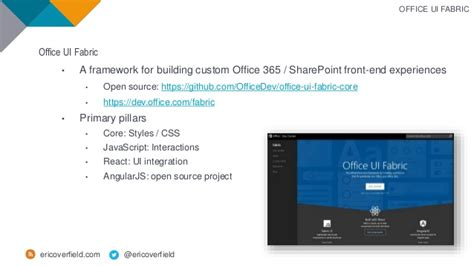 Office Ui Fabric React by Use Office Ui Fabric React To Build With Sharepoint