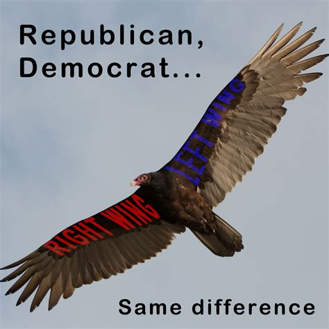 right and left wings of the same bird of prey words of