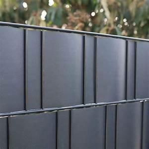 Holz Farbe Anthrazit : pvc flex sichtschutzstreifen doppelstabmattenzaun anthrazit sichtschutz ~ Orissabook.com Haus und Dekorationen