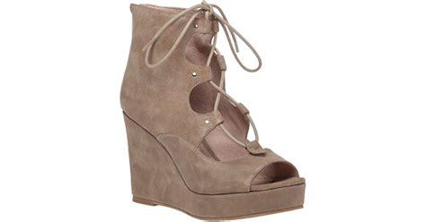 J/slides Colette2 Lace-up Wedge Sandals In Natural