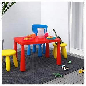 Table Enfant Exterieur : mammut table enfant int rieur ext rieur rouge 77x55 cm ikea ~ Melissatoandfro.com Idées de Décoration