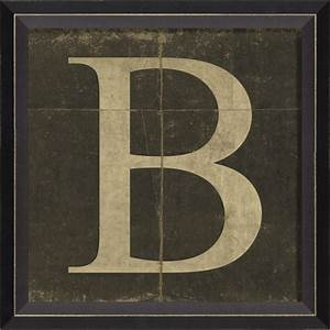 Alphabet letter b framed wall art by spicher and company for Letter wall art
