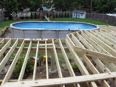 12x16 pool deck plans add the joist to each deck quadrant deck framing