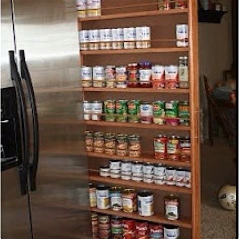 How To Make A Spice Rack Out Of Wood by Slide Out Spice Rack Between The Fridge And Wall