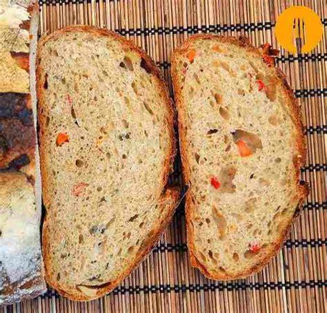 receta de pan de verduras con masa madre delicioso