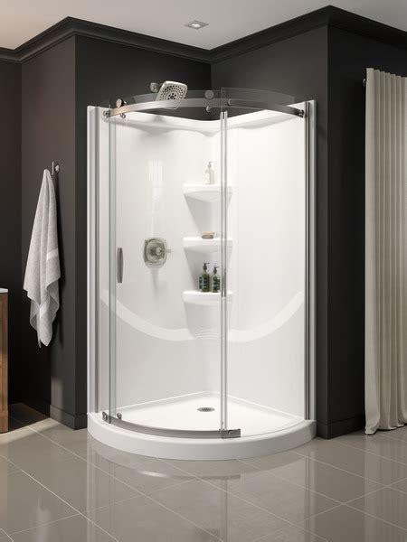 corner shower enclosure   ss delta faucet