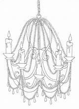 Chandelier Drawing Line Sketch Template Bright Coloring Pages Getdrawings March sketch template