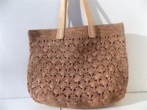 Sac En Paille Original : cabas sac de plage sac bleu blanc sac paille raphia ~ Melissatoandfro.com Idées de Décoration
